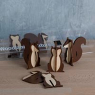 Woodland Creatures Squirrels (set of 8)