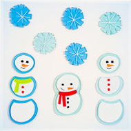 Little Snowmen Small GelGems Window Clings