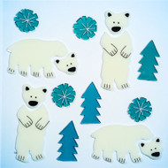 Polar Bears GelGems Large Window Clings
