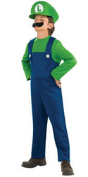 Suoer Mario Bros Luigi Child Costume