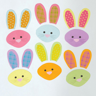 Bunny Mix up  GelGems Small Window Clings