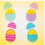 Chicks in eggs GelGems® Small Window Clings