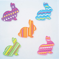 Patterned bunnies GelGems® Small Window Clings