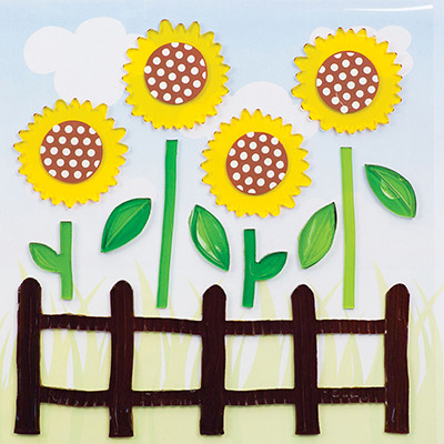 Sunflowers GelGems® Large Window Clings