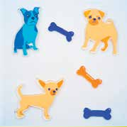 Playful Pups GelGems® Small Window Clings