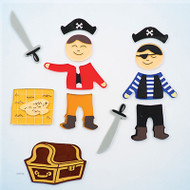 Pirates GelGems® Large Window Clings