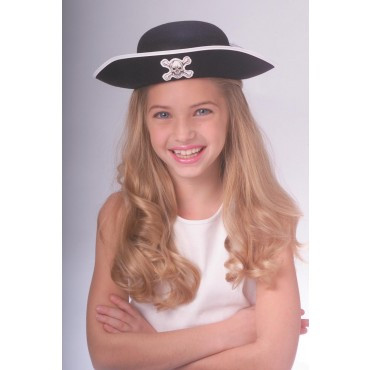 Child's Dura Pirate black Hat
