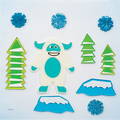 Abominable Snowman GelGems® Large Window Clings
