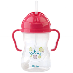 B.Box Sippy Cup - Raspberry - Open