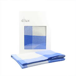 The D.Lux Panda Wool Baby Wrap in blue.