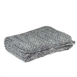 D.Lux Mini Moss Cotton Knitted Bassinet Cover - Grey