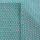 D)Lux Mini Moss Cotton Knitted Bassinet Cover in Sea Green.