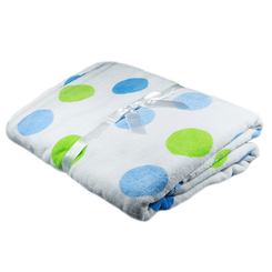 Blue Gelati Spot Baby Bath Towel from Emotion and Kids