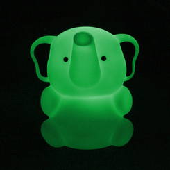 Zooglo Rechargeable LED Night Light - Elephant - Light On