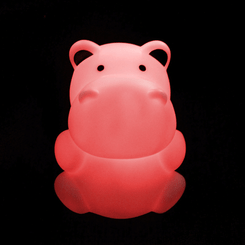 Zooglo Rechargeable LED Night Light - Hippo - Light on