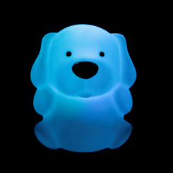 Zooglo Puppy Rechargeable LED Night Light - Light on