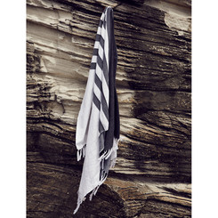 Black / White Cotton Turkish Towel from Talulah