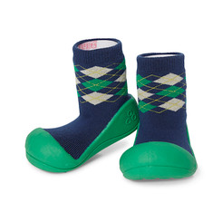 Attipas First Walker Shoe - Argyle Green