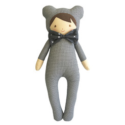 Alimrose - Baby in Bear Suit - Houndstooth