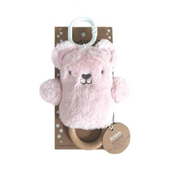 DINGaRING Teething Rattle - Claire Bear (Pink)
