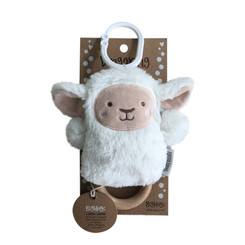 DINGaRING Teething Rattle - Leesa Lamb (White)