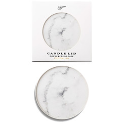 Candle Lid | White Marble Effect