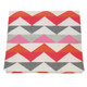 D)Lux Baby Ziggy 100% Cotton Knitted Cot Blanket - Rose