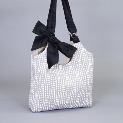 Olivia Ring Bag. Great as a tote or handbag. Shown in Sterling Strands.