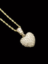 10K gold 0.15ct Diamonds Heart With Chain