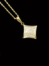 10K Gold 0.05ct Diamonds Kite  Pendant With Chain