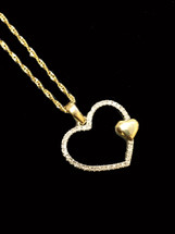 10K gold 0.08 ct Diamonds Heart With Chain