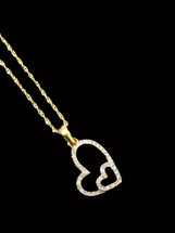 10 K gold 0.15ct Diamonds Heart With Chain
