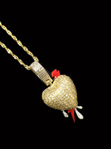 10K gold 0.45ct diamonds heart with chain