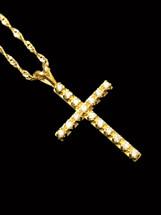 10K gold 0.33ct Diamonds Cross With Chain