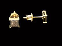 10K gold 0.05ct Diamonds Earrings