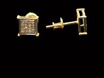 10K gold 0.10 ct Diamonds Earrings