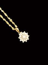 10K gold 0.22ct Diamonds Pendant With Chain