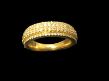 10K gold 1.45ct Diamonds Men Band