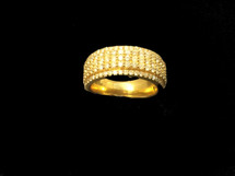 10K Gold 2.5ct Diamonds Men Band
