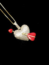 10K gold 0.33ct Diamonds Heart With Chain