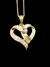 10K gold 0.26ct Diamonds Heart With Chain