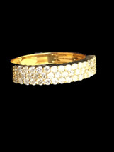 10K Gold 0.90Ct Diamonds Band