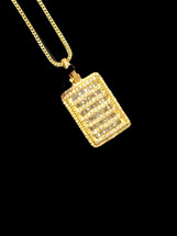 10K Gold 1.65ct Diamonds Ice Block With Chain