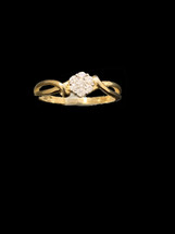14K Gold 0.15 ct Diamonds Ladies Ring