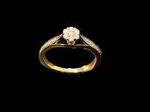14K Gold 0.25 Ct Diamonds Ladies Ring