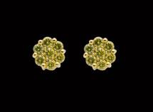 10K Gold 1 CT Yellow Diamond Earring