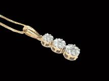 14K Gold 0.25CT Diamond Pendant.