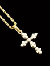 14K Gold 0.25CT Diamond Pendant