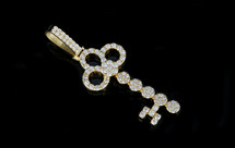 10K Diamonds 1.75CT Diamonds Custom Key Pendant