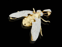 "10K Gold 0.90CT Diamonds Micro ""Fly"" Pendant"